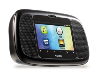 Android powered web radio The web radio evolves with Android thanks to the ARCHOS Home Connect and its 3.5 inch touchscreen. Bringing you over 50 000 web radio stations with the integrated TuneIn application as well as the specially developed ARCHOS Alarm Clock application bringing you weather, traffic and news from the moment you wake up.
