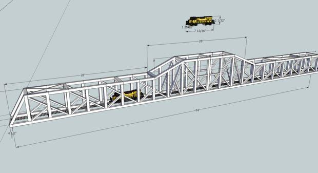 Picture of Model Train Bridge