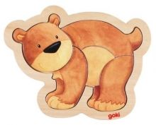 Drevené puzzle Medveď - Puzzle pre najmenších - Puzzle - Hry a puzzle - Hračky a Detský nábytok- Detský Sen - Maxus