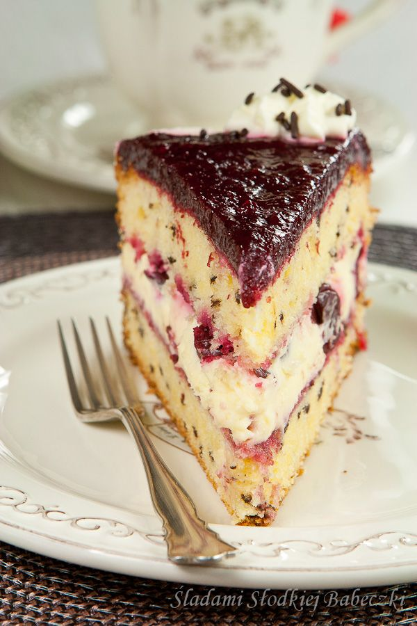Tort mascarpone z wiśniami | Mascarpone cake with cherries