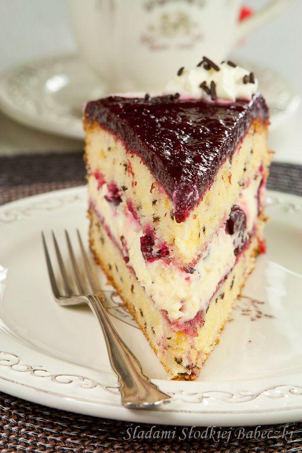 Tort mascarpone z wiśniami | Mascarpone cake with cherries