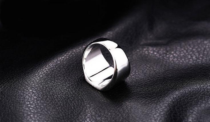 Punk Stainless Steel Double Eagle Head Finger Ring for Men