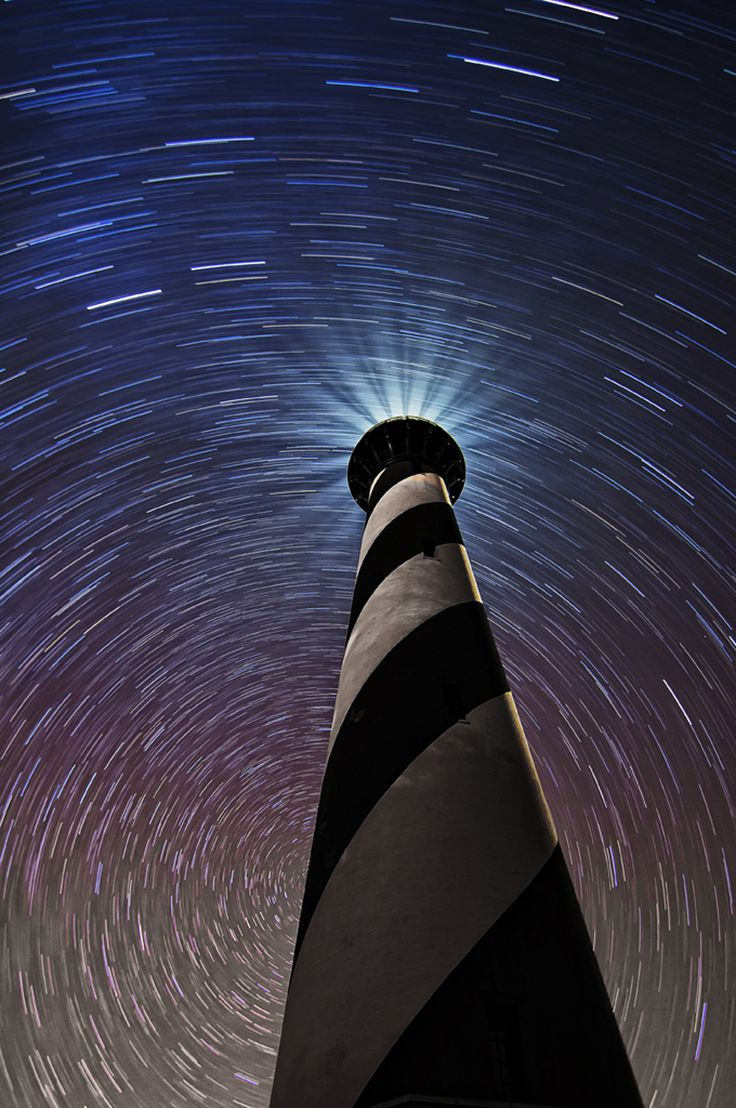 Cape Hatteras National Seashore's barrier islands are a wonderful location to view the night's sky. Climb to the top of the lighthouse for an even closer look at the stars! Share the Experience photo by Latta Johnston.