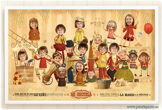 """¡NUEVA #ORLA! Ya queda poquito para fin de curso, y """"las seños"""" se merecen un precioso detalle pirata. Niños y niñas, la mejor escuela del mundo empieza su función... ¡Bienvenidos al mundo del circo y del color!"""