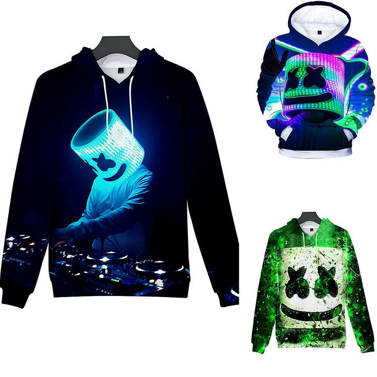 Boy Marshmello Neon DJ 3D Printed Hoodies Sweater Pullover Kid Jumper Sweatshirt