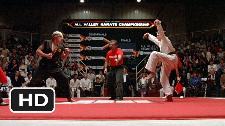 The Crane Kick - The Karate Kid (8/8) Movie CLIP (1984) HD. I remember the first time I watched this movie, I was just IN AWE - and any time I watch this scene I get goosebumps. You gotta love an underdog :)