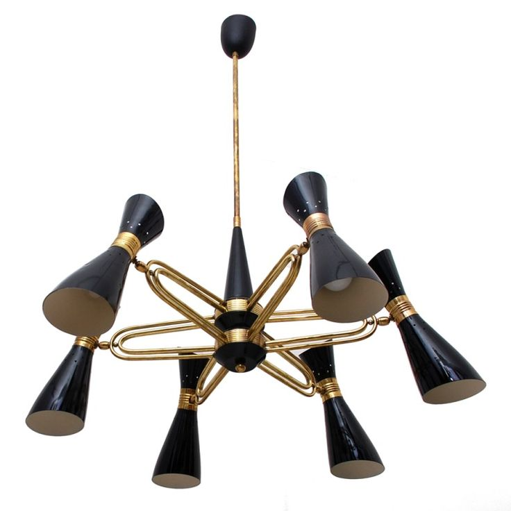 Stilnovo Chandelier | From a unique collection of antique and modern chandeliers and pendants  at https://www.1stdibs.com/furniture/lighting/chandeliers-pendant-lights/