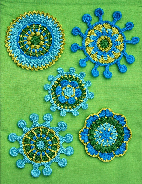 Ravelry: SPOKE & PICOT MOTIFS - crochet pattern, pdf pattern by CAROcreated design
