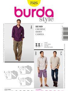 burda style: Herren - Hemden - Herren-Hemd