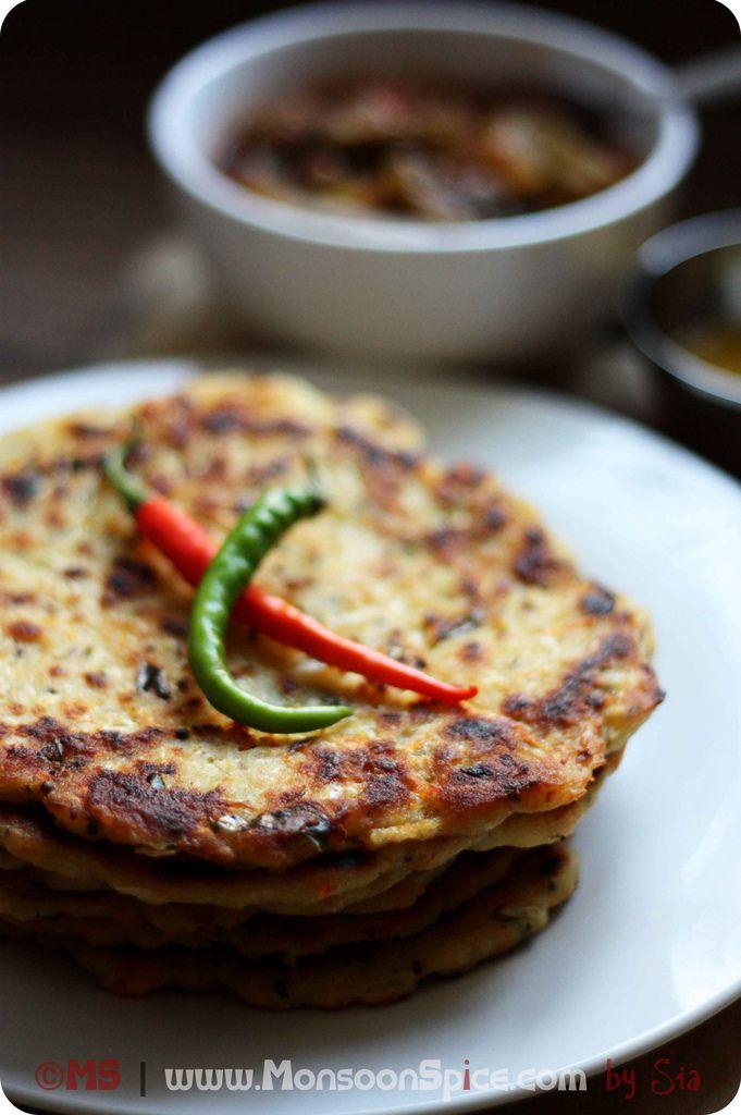Cabbage Akki Rotti ~ Gluten Free Spicy Cabbage Flat Bread Recipe