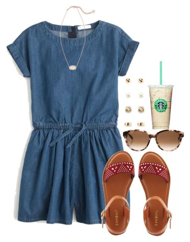 """Still looking for a romper/jumper"" by flroasburn ❤ liked on Polyvore featuring J.Crew, Bamboo, Kate Spade, Forever 21 and Kendra Scott"