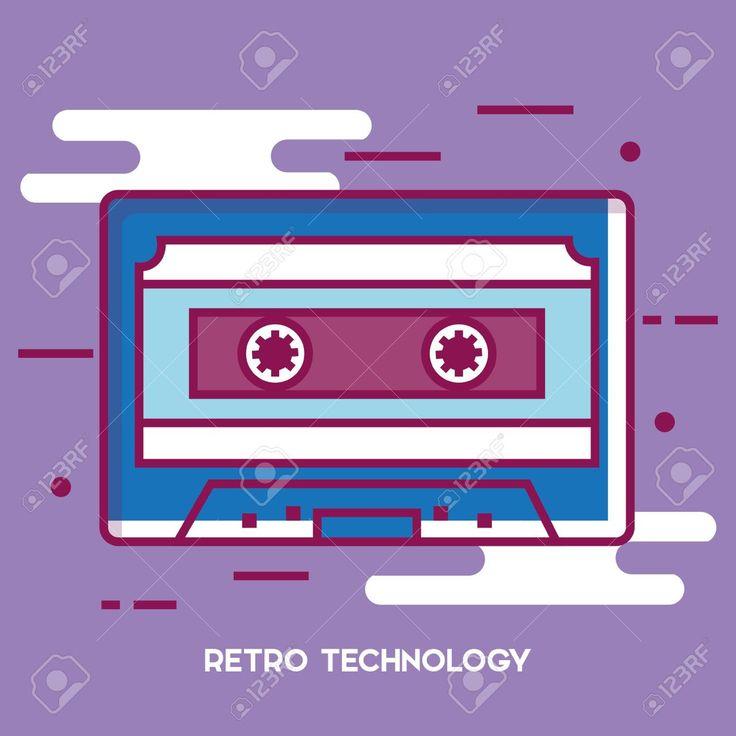 Cassette retro technology icon vector illustration design. , #spon, #technology, #retro, #Cassette, #icon,