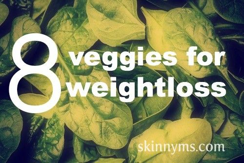 8 Veggies that are high in fiber and vitamins.  Plus they're great for weight loss!