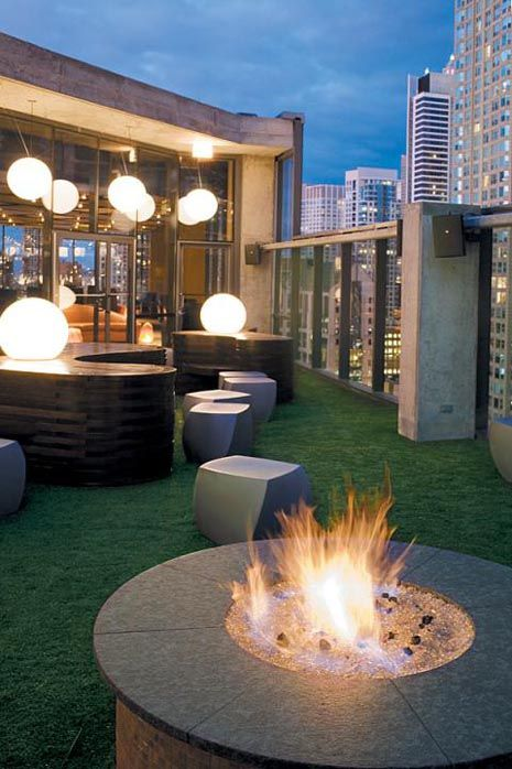 At the Dana hotel you will find the great outdoor patio rooftop bar Vertigo Sky Lounge. This is a more upscale lounge and has a strict dress code, so make sure you dont wear your tshirts and tennis shoes. They do get packed on the weekend so unless you want to get bottle service or pay off the bouncer be sure to get there early. The wait staff is pretty attentive compared to other places.