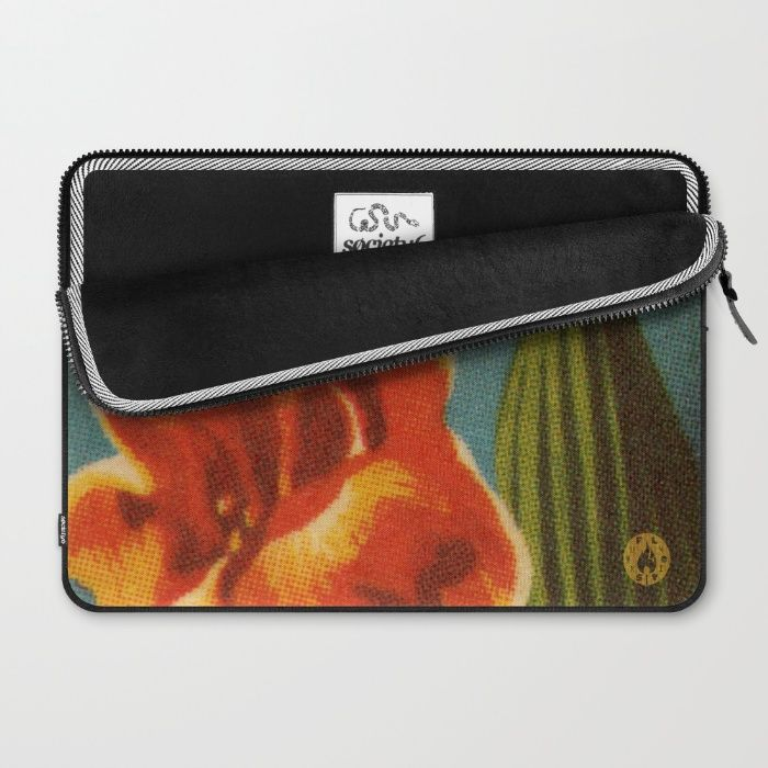 """Red Iris"" laptop sleeve by Fluxionist on Society6 for $36"