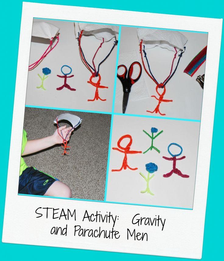 Stem Art Daycare Preschool: STEAM For Kids: Wikki Stix Parachute Men Design Challenge