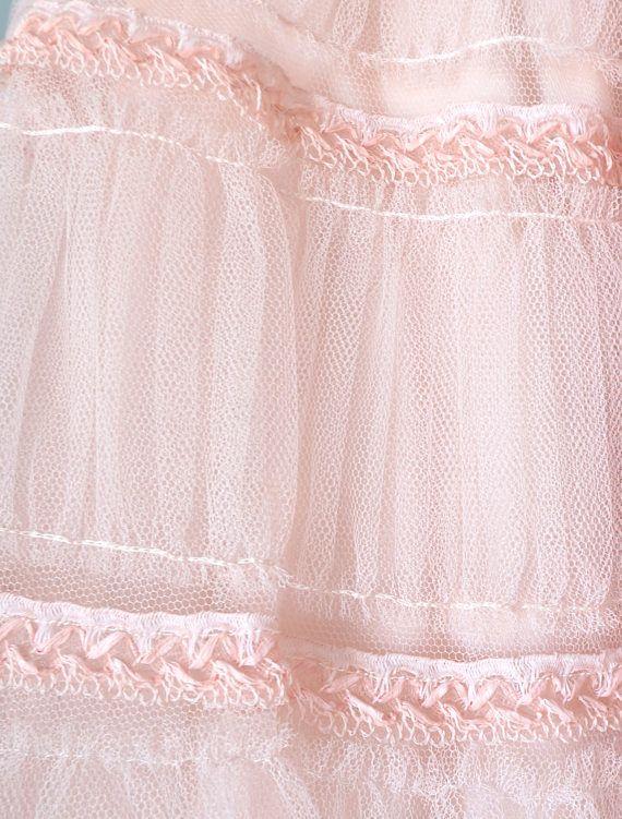 Vestido de fiesta de la década de 1950... Vintage rosa Teal