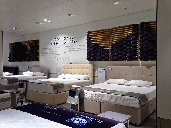 Vm Choice John Lewis Oxford Street S Refurbished Home Departments Retail Design World Mattress Showroom Bedroom Decor Bedroom Design