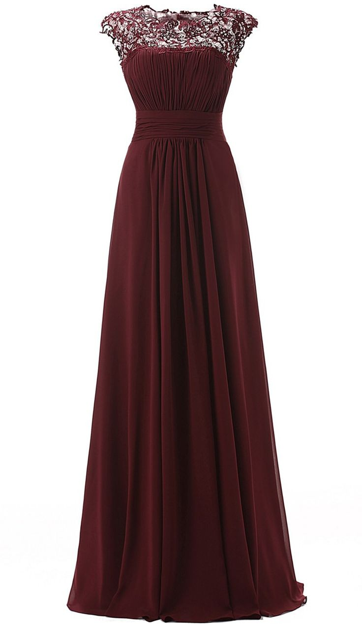 Floor Length Prom Dress,Modren A-line Party Dress,Scoop Prom/Party Dress With…