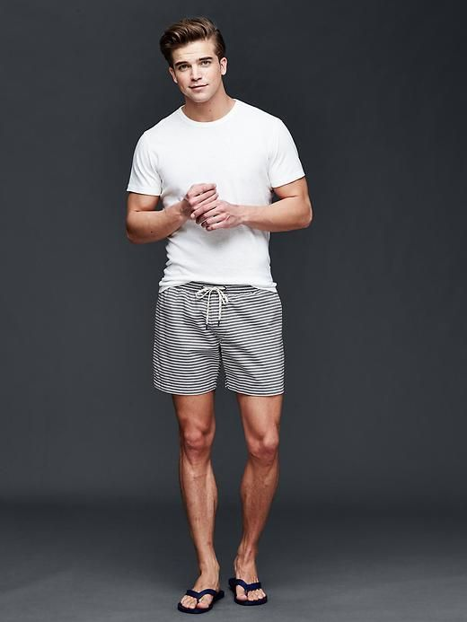 "Stripe swim trunks (5.5"") Product Image"