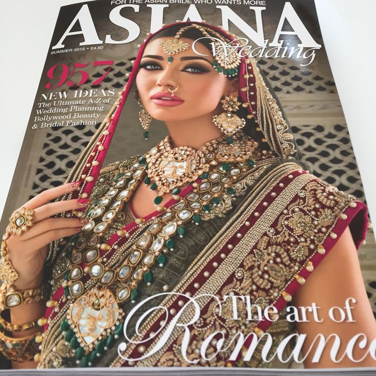 We are excited to feature in the Summer edition of Asiana Wedding with our new Pride of  the Peacock Collection.