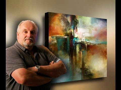 Michael Lang: ABSTRACT painting 'Bridge to Eternity' demonstration by MIX Lang
