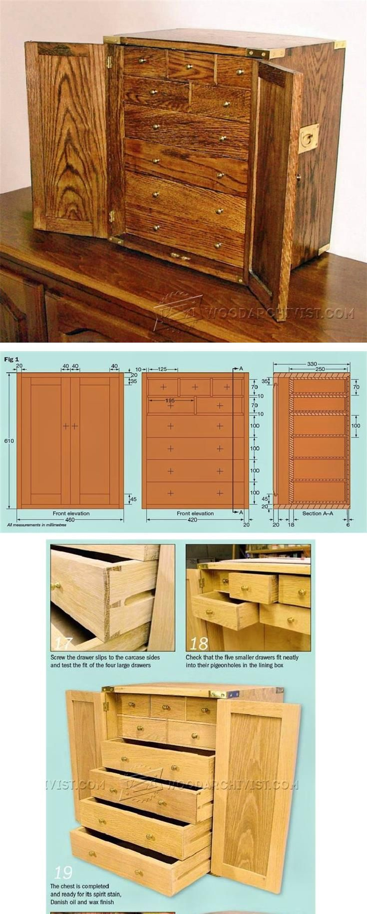 Cutlery Chest Plans - Woodworking Plans and Projects | WoodArchivist.com