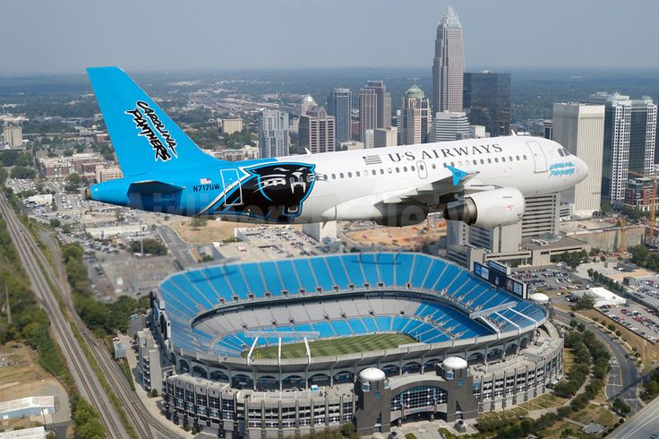 Bank of America Stadium, Charlotte, North Carolina I have seen that plane in CLT before!!!!