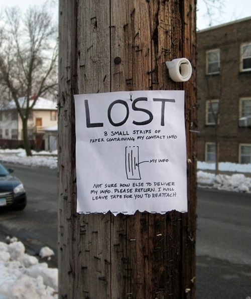 The Funniest Street Fliers: lost flier for flier strips...