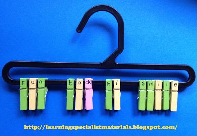 Fun Clothespin Orton Gillingham Remediation Ideas and More - Learning Specialist and Teacher Materials - Good Sensory Learning