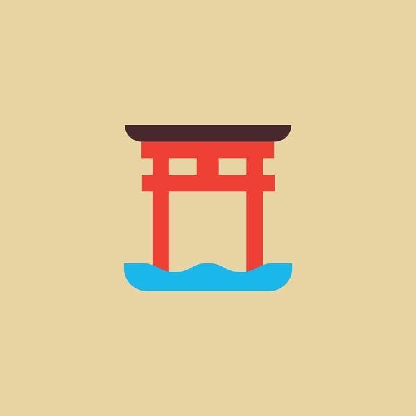 Japanese Symbols - Torii
