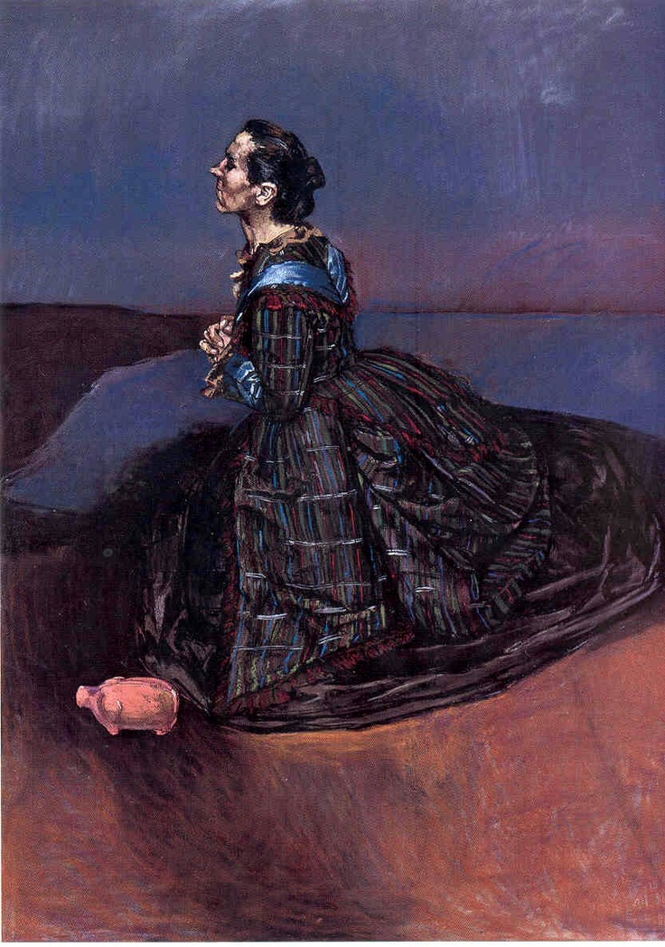 Paula Rego. In the Wilderness, 1998. Pastel on paper mounted on aluminium, 180 x 130 cm.