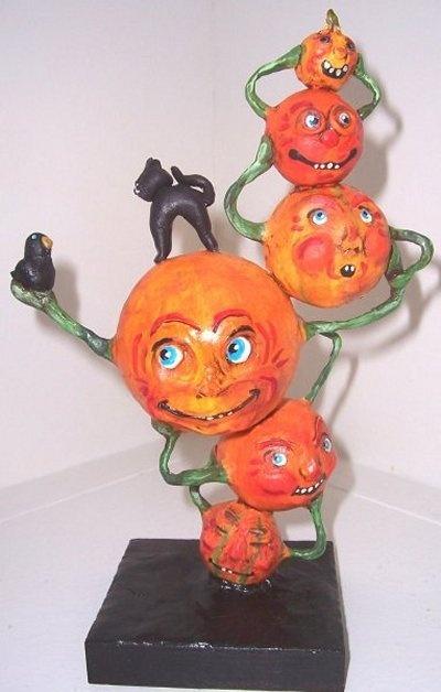 halloween paper mache by suzan buckner halloween arthalloween decorationspaper clayhallows evefolk