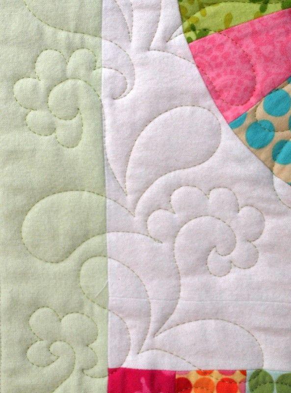 Detail of free motion motif Sampaguita Quilts