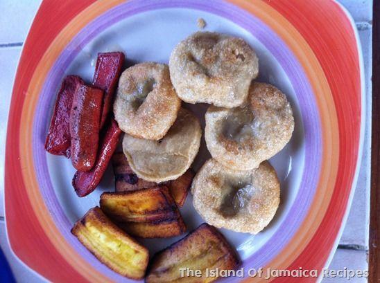 fried boiled dumplings jamaican breakfast  jamaican