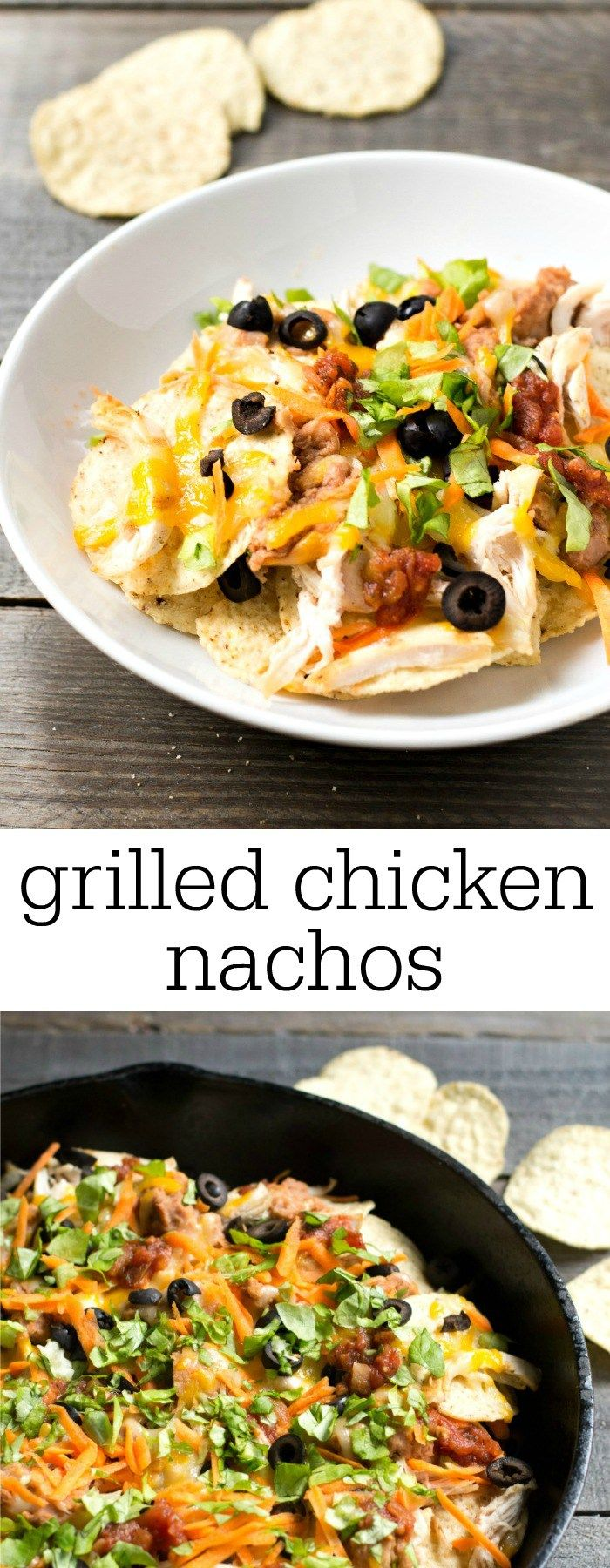 these grilled chicken nachos are the perfect quick dinner this healthy casual recipe also