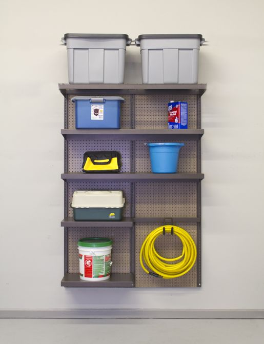 The 4 Pegboard Organization Kit Includes All Shelves Hangrails And Hooks To