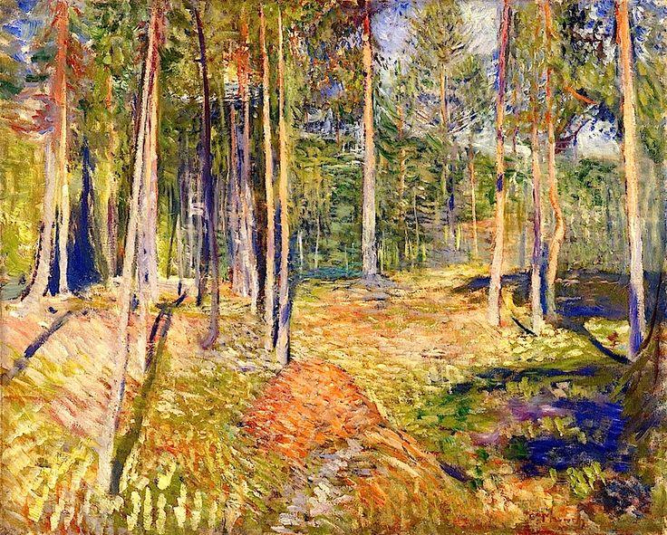 Pine Forest Edvard Munch - 1891-1892 http://bofransson.tumblr.com/post/49173995436/pine-forest-edvard-munch-1891-1892