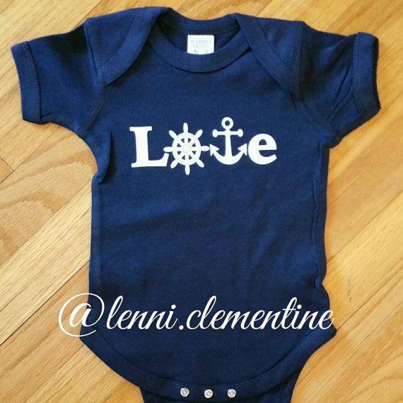 Love anchor onesie. Boating onesie. https://www.etsy.com/listing/224933723/love-anchor-infant-bodysuit-anchor-baby