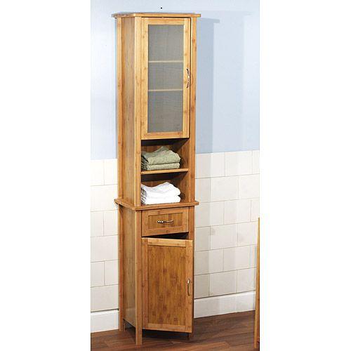 Bamboo bathroom cabinet  For the Home  Bathroom shelves