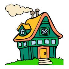 Free Clipart House Cartoon