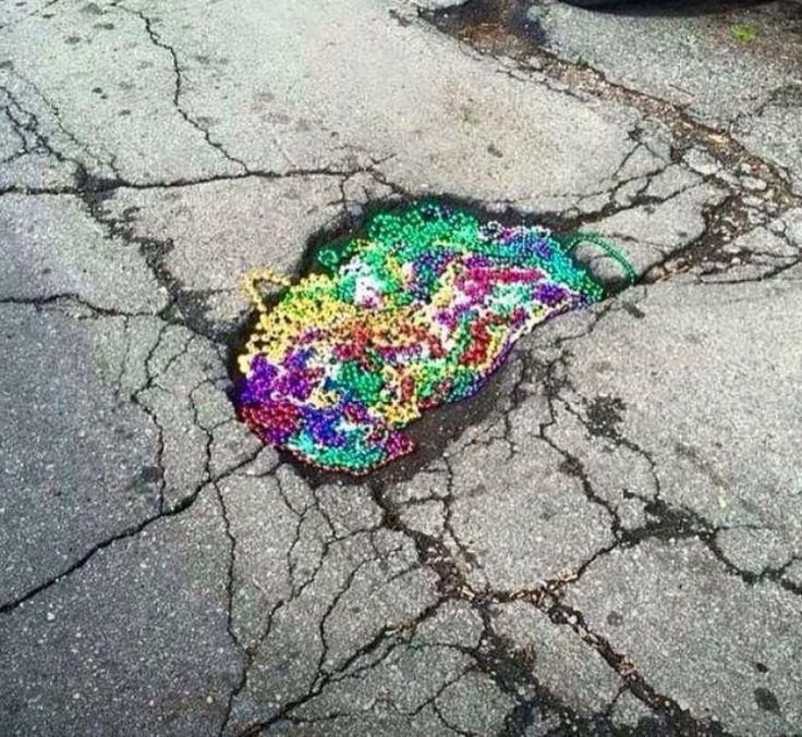 This is how we should fill the potholes in the parish! Louisiana Parish roads!