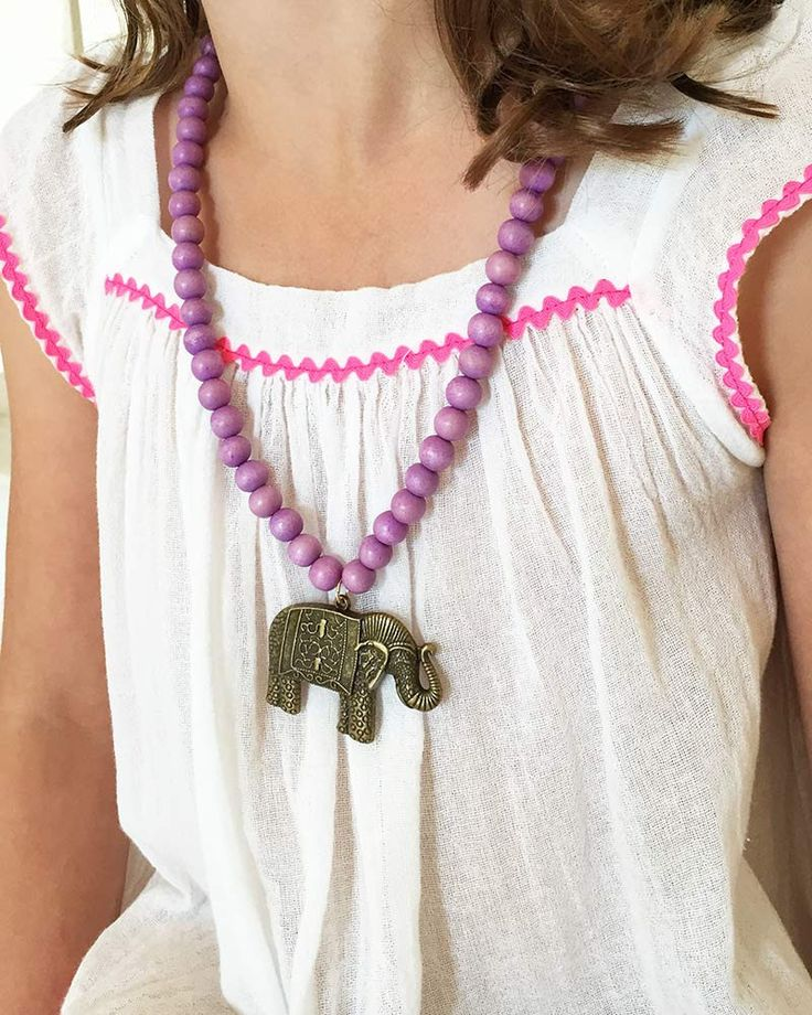 Boho Beads Elephant Beaded Necklace – Online Jewelry Boutique