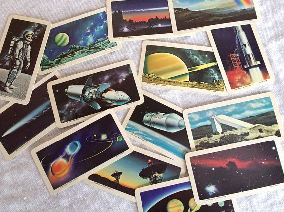 BINARY STAR THE SPACE AGES SERIES RED ROSE TEA CARD