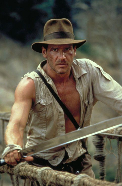 Harrison Ford in Indiana Jones and the Temple of Doom (Indiana Jones e o Templo da Perdição, 1984)