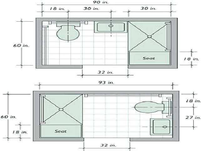Minimum Bathroom Size Small Bathroom Designs And Floor Plans