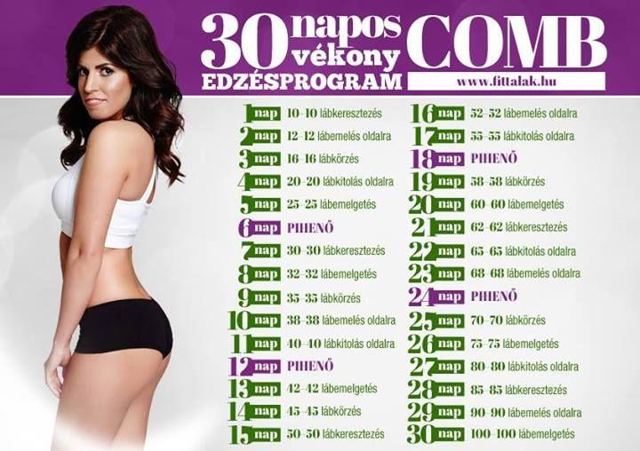30 napos edzésterv combra (haha - mintha nem lennék lusta egyedül edzeni)