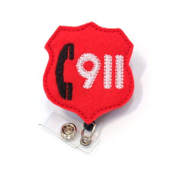 911 despachador  despachador de emergencia insignia Pull