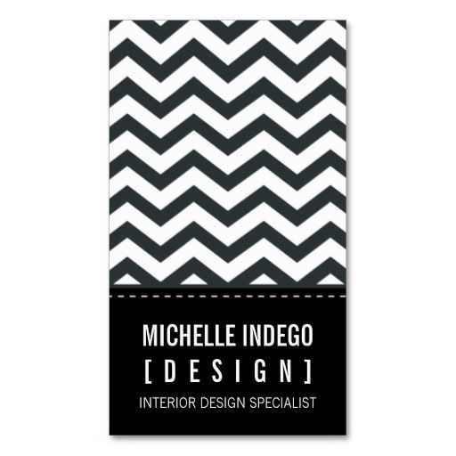259 best photography business cards images on pinterest business business card bold trendy chevron stripes black reheart Choice Image