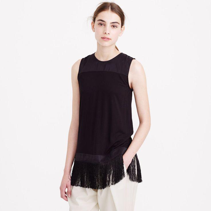 Fringe tank : tops & blouses | J.Crew